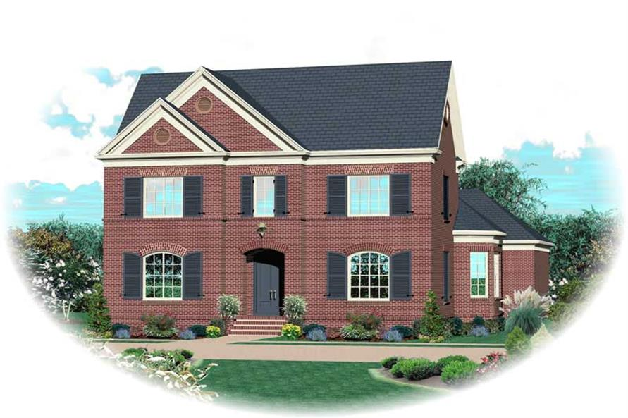 4-Bedroom, 3247 Sq Ft Southern House Plan - 170-1039 - Front Exterior