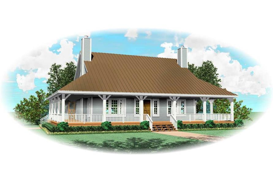 3-Bedroom, 2300 Sq Ft Country House Plan - 170-1066 - Front Exterior