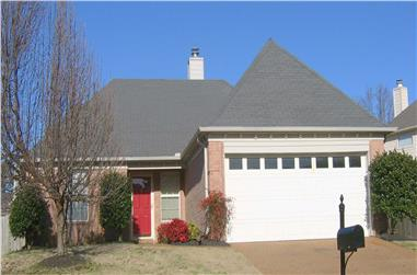 3-Bedroom, 1211 Sq Ft Ranch Home Plan - 170-1077 - Main Exterior