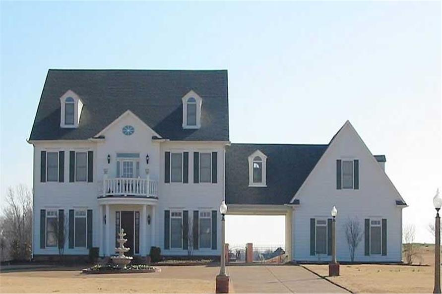 4-Bedroom, 4805 Sq Ft Colonial House Plan - 170-1101 - Front Exterior