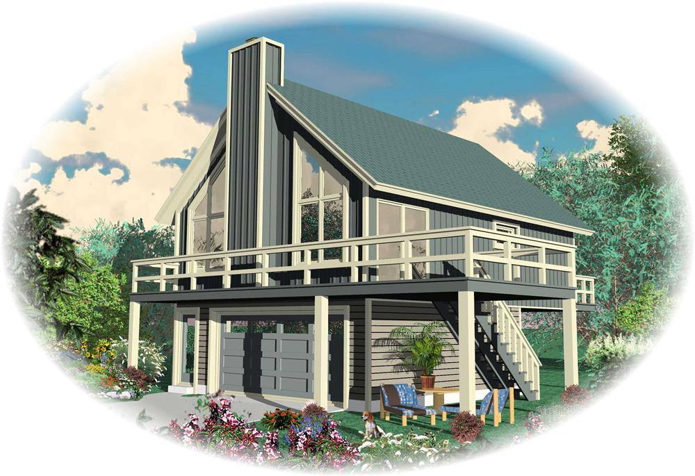 Front elevation of Small House Plans home (ThePlanCollection: House Plan #170-1121)
