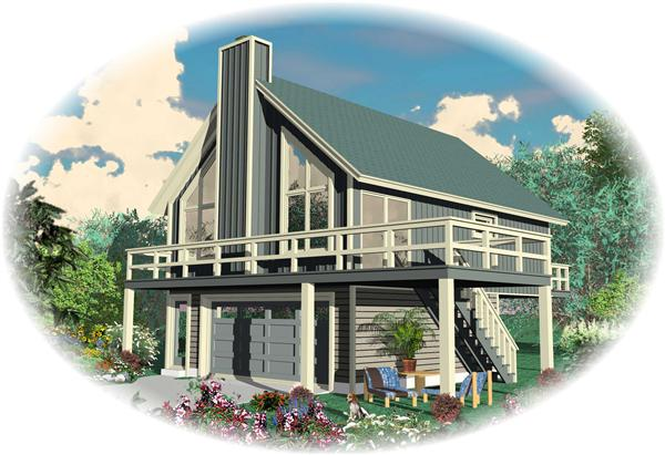 Color Rendering of this house plan.