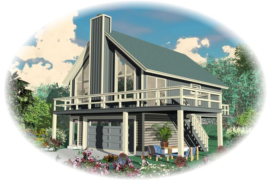 2-Bedroom, 868 Sq Ft Small House Plans - 170-1121 - Front Exterior