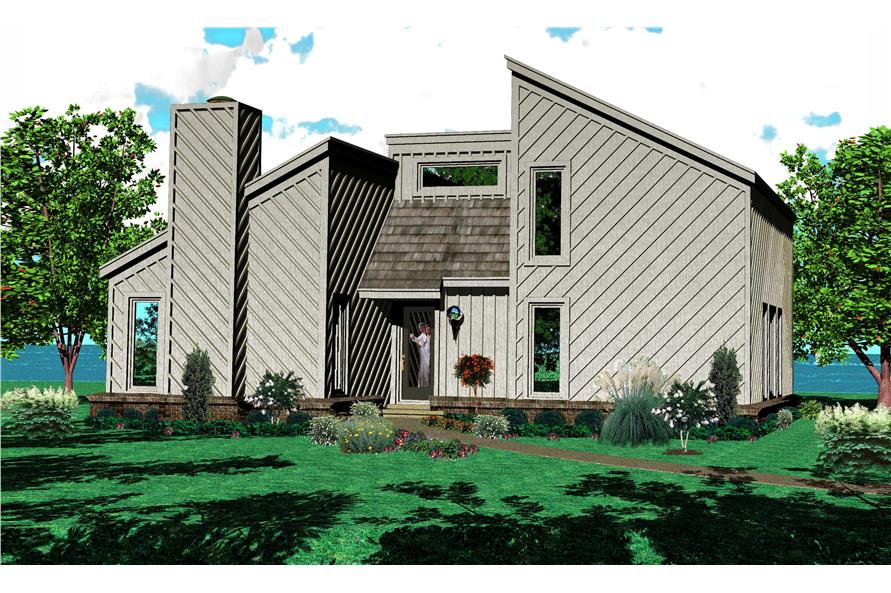 3-Bedroom, 1641 Sq Ft Small House Plans - 170-1153 - Main Exterior