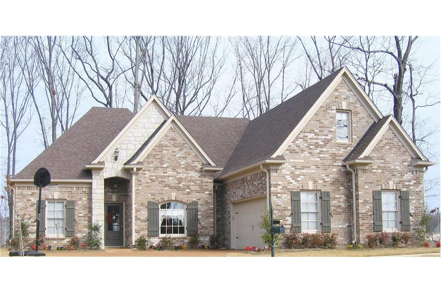 3-Bedroom, 1814 Sq Ft Country Home Plan - 170-1166 - Main Exterior