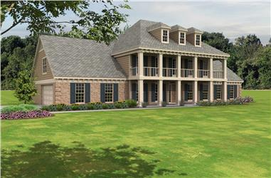4-Bedroom, 3870 Sq Ft Georgian House Plan - 170-1173 - Front Exterior