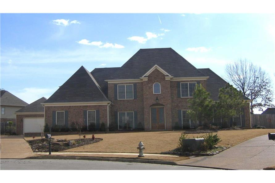 5-Bedroom, 3340 Sq Ft French Home Plan - 170-1177 - Main Exterior