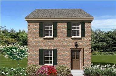 2-Bedroom, 1107 Sq Ft Small House Plans - 170-1179 - Main Exterior