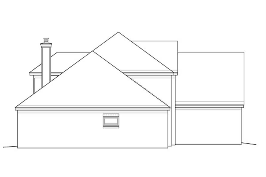 Home Plan Left Elevation of this 3-Bedroom,3068 Sq Ft Plan -170-1185