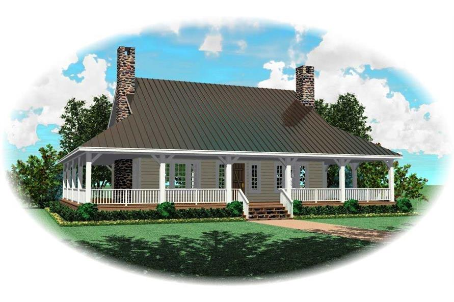 3-Bedroom, 3248 Sq Ft Cape Cod House Plan - 170-1195 - Front Exterior