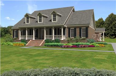 4-Bedroom, 3659 Sq Ft Cape Cod House Plan - 170-1200 - Front Exterior