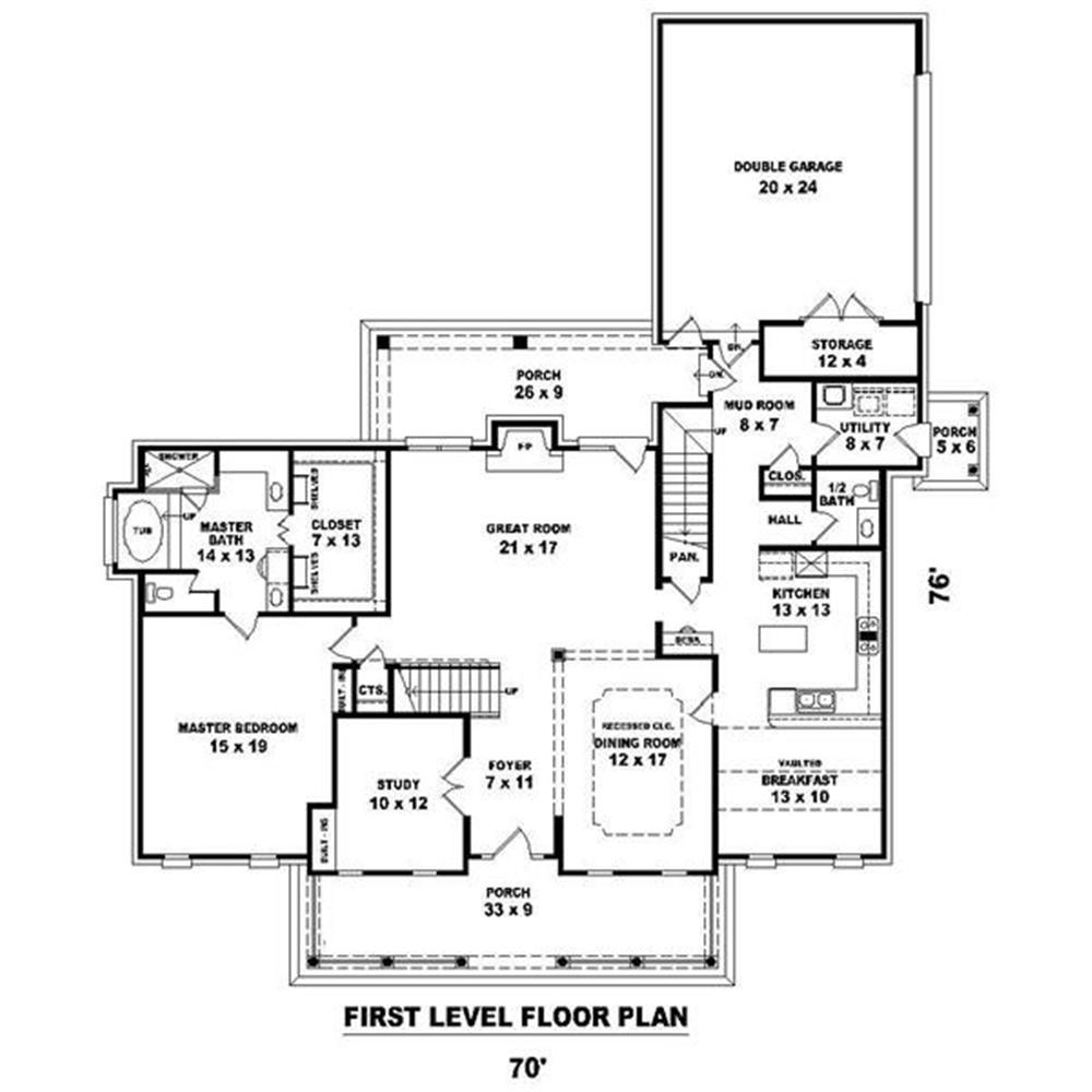 170-1200 house plan first floor
