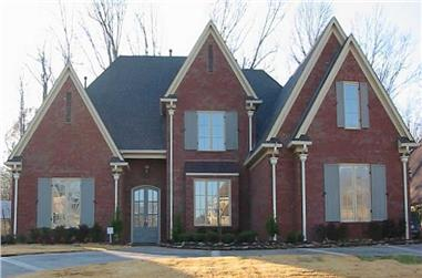 4-Bedroom, 4898 Sq Ft Southern House Plan - 170-1205 - Front Exterior