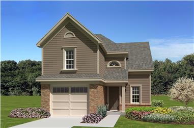 3-Bedroom, 1481 Sq Ft Small House Plans - 170-1207 - Main Exterior