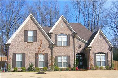 3-Bedroom, 2753 Sq Ft Country Home Plan - 170-1210 - Main Exterior