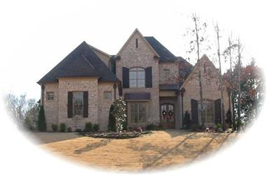 4-Bedroom, 4557 Sq Ft Southern House Plan - 170-1221 - Front Exterior