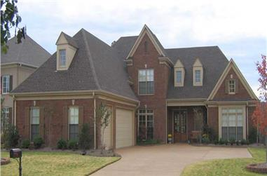 4-Bedroom, 3917 Sq Ft Southern House Plan - 170-1222 - Front Exterior