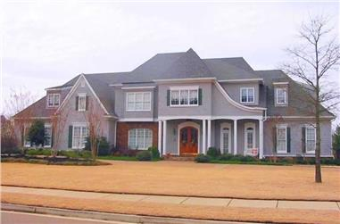 5-Bedroom, 5753 Sq Ft Southern House Plan - 170-1232 - Front Exterior