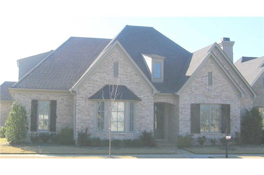 4-Bedroom, 3847 Sq Ft French Home Plan - 170-1235 - Main Exterior