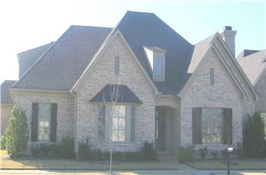 3-Bedroom, 3557 Sq Ft French Home Plan - 170-1237 - Main Exterior
