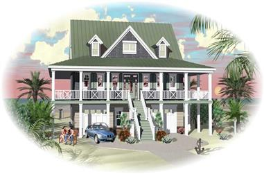 3-Bedroom, 1928 Sq Ft Beachfront House Plan - 170-1247 - Front Exterior