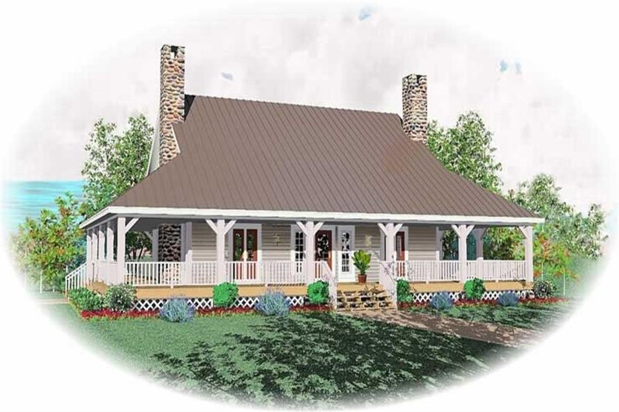 3-Bedroom, 2430 Sq Ft Country Home Plan - 170-1252 - Main Exterior