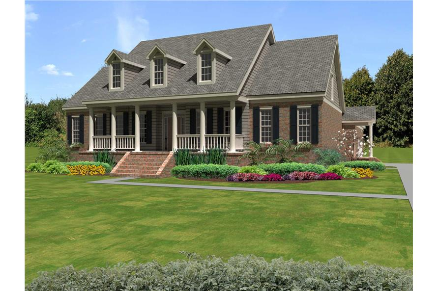 #170 1255 · 4 Bedroom, 3659 Sq Ft Cape Cod Home Plan   170 1255
