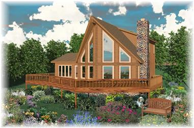 3-Bedroom, 1850 Sq Ft Southern House Plan - 170-1268 - Front Exterior