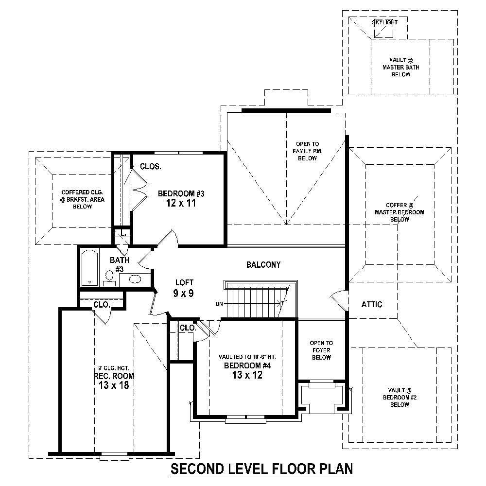 Large images for house plan 170 1282 for Second story floor plan