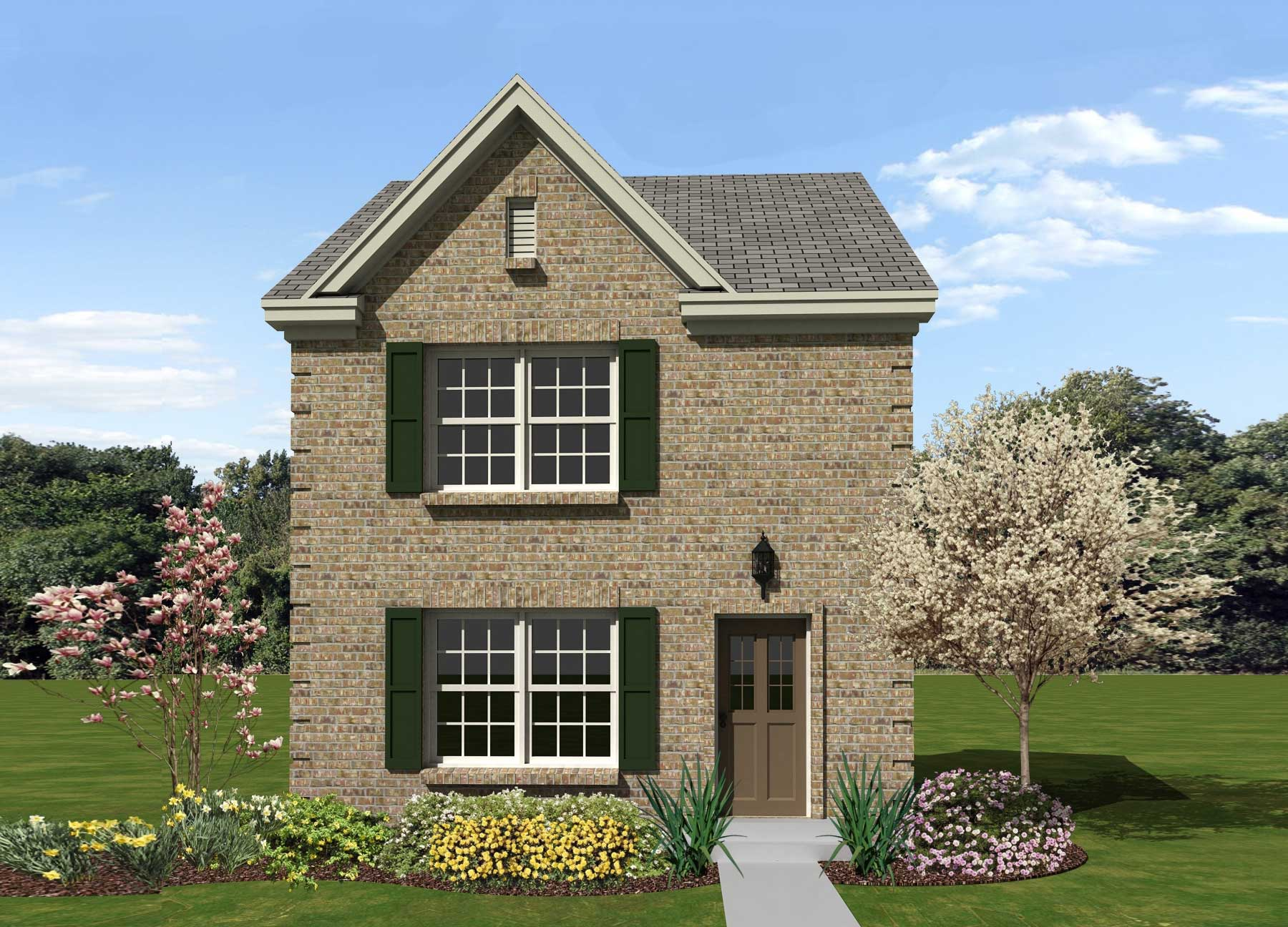 Georgian home plan 2 bedrms 1 5 baths 1107 sq ft for Georgia house plans