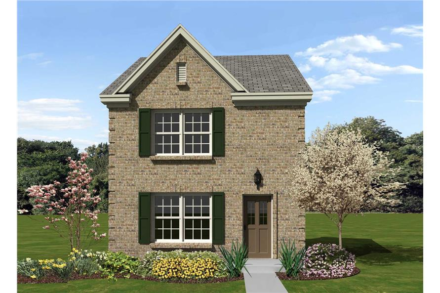 2-Bedroom, 1107 Sq Ft Georgian Home Plan - 170-1303 - Main Exterior