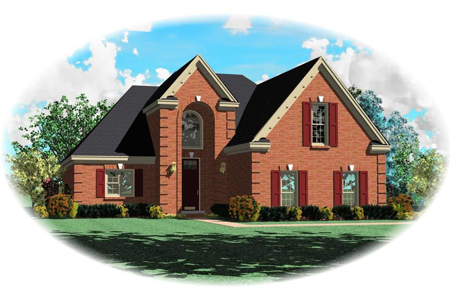 3-Bedroom, 2505 Sq Ft French House Plan - 170-1311 - Front Exterior