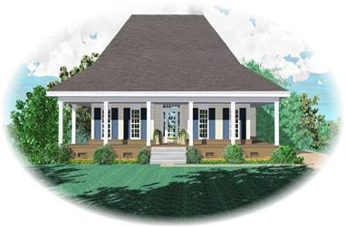 3-Bedroom, 1839 Sq Ft Country House Plan - 170-1321 - Front Exterior