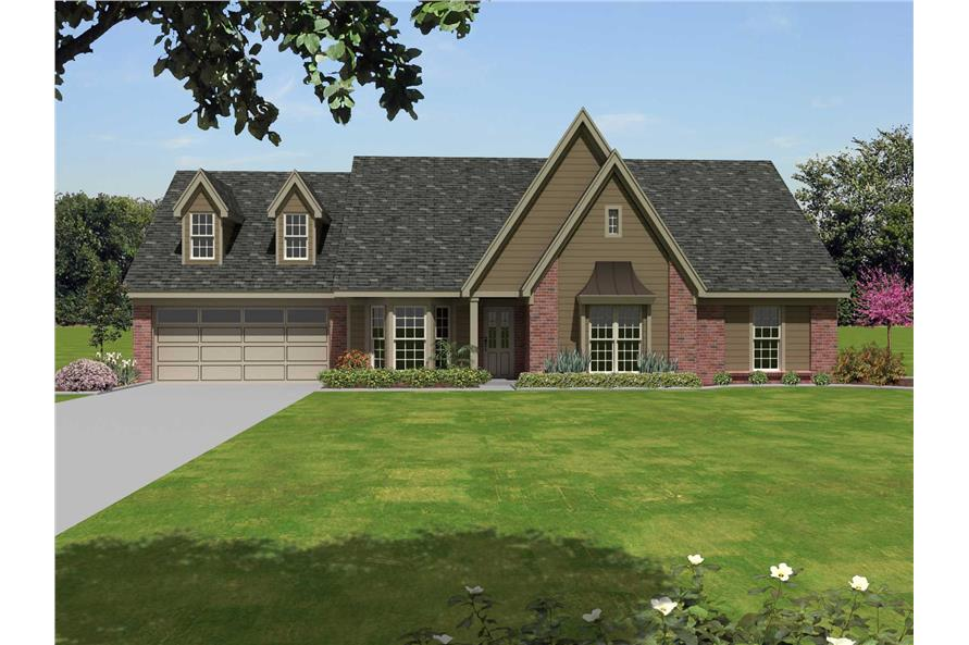 4-Bedroom, 2033 Sq Ft Traditional Home Plan - 170-1330 - Main Exterior