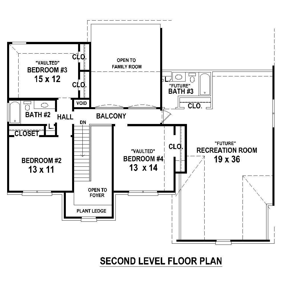 Large images for house plan 170 1335 for Second story floor plan