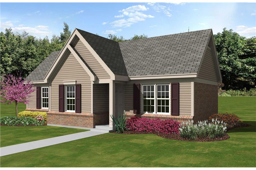 Color Rendering of this house plan