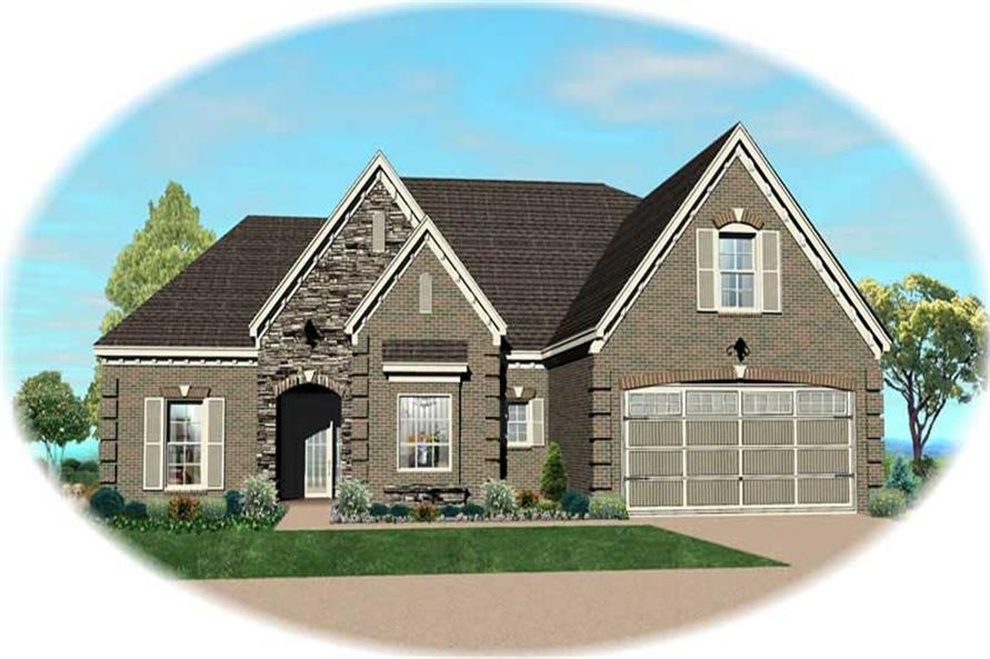 3-Bedroom, 2510 Sq Ft Southern House Plan - 170-1347 - Front Exterior