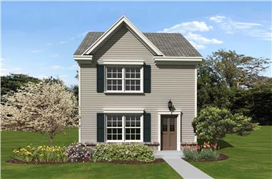 2-Bedroom, 1107 Sq Ft Traditional Home Plan - 170-1349 - Main Exterior