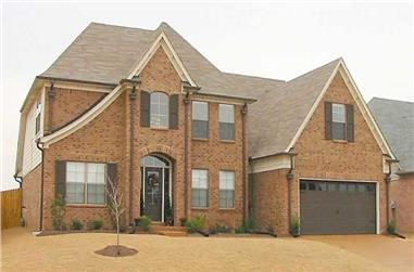 3-Bedroom, 3031 Sq Ft Southern House Plan - 170-1362 - Front Exterior