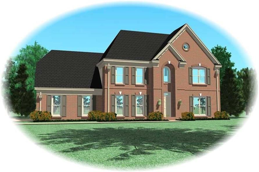 4-Bedroom, 2413 Sq Ft Southern House Plan - 170-1366 - Front Exterior