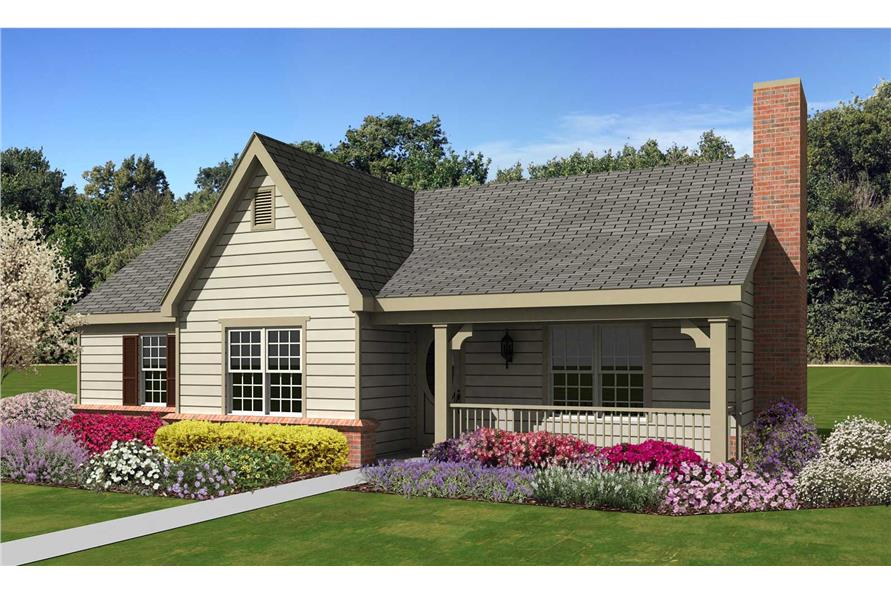3-Bedroom, 1227 Sq Ft Country Home Plan - 170-1394 - Main Exterior