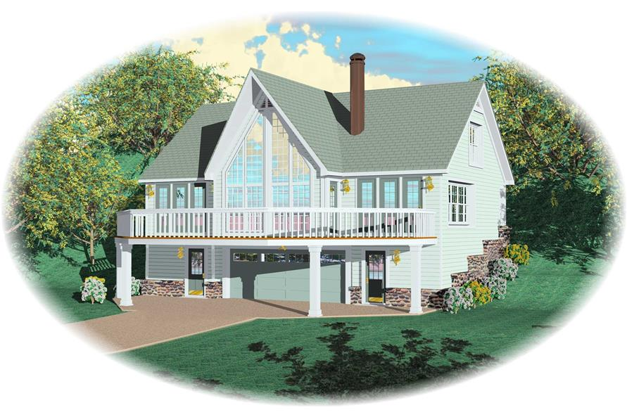 1-Bedroom, 1617 Sq Ft Country House Plan - 170-1396 - Front Exterior