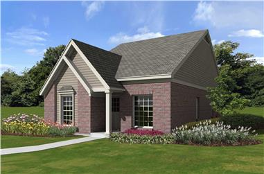 3-Bedroom, 1185 Sq Ft French House Plan - 170-1397 - Front Exterior
