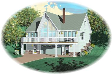 1-Bedroom, 1280 Sq Ft Country Home Plan - 170-1400 - Main Exterior