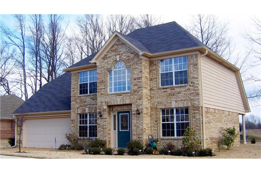 3-Bedroom, 1658 Sq Ft European Home Plan - 170-1407 - Main Exterior