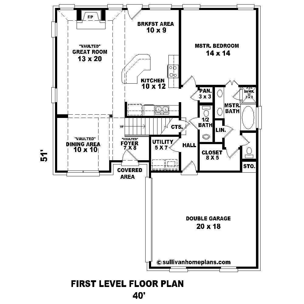 French house plans home design su b1270 685 429 f for Floor plan in french