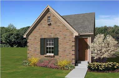 3-Bedroom, 1122 Sq Ft Small House Plans - 170-1414 - Front Exterior