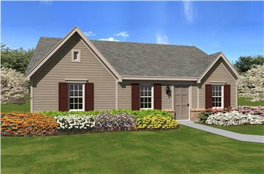 3-Bedroom, 1112 Sq Ft Small House Plans - 170-1417 - Main Exterior