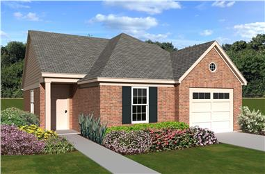 2-Bedroom, 1079 Sq Ft Bungalow Home Plan - 170-1419 - Main Exterior