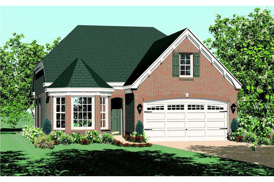 Front elevation of Small House Plans home (ThePlanCollection: House Plan #170-1423)